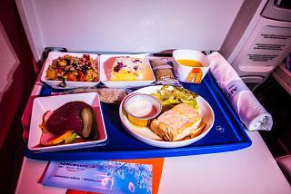 In-flight meals for comfort-class Aeroflot flight Moscow-Bangkok