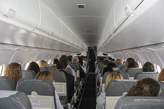 Салон самолета ATR 72-500 авиакомпании Tarom