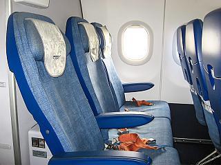 Кресла эконом-класса в самолете Airbus A321 VQ-BEF Аэрофлота