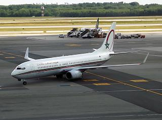 Boeing 737-800 авиакомпании Royal Air Maroc в аэропорту Милан Мальпенса