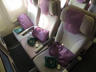 Seats in economy class in Boeing 777-300s Emirates