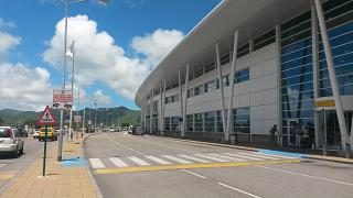 The passenger terminal of the airport Princess Juliana on the island of Saint Martin