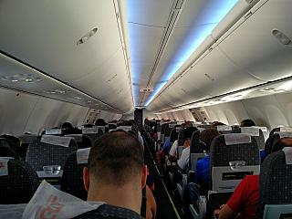 The cabin of the aircraft Boeing-737-800 GOL