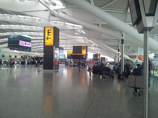 In Terminal 5 of London Heathrow airport
