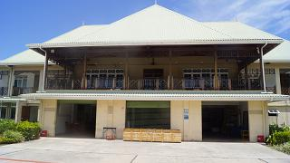 The terminal of the airport of Praslin airside