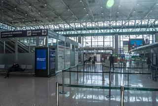The screening area in terminal 1 of the airport Rome Fiumicino