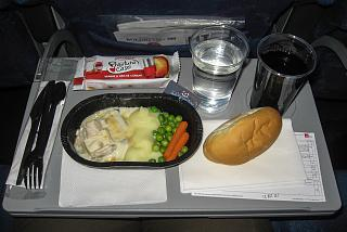 Flight meals on the flight Bucharest-Moscow airlines TAROM