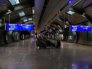 The transition at the airport in Frankfurt