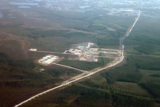 Oil development over Western Siberia