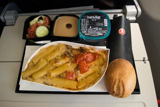 Flight meals on the flight of Turkish Airlines from Moscow to Istanbul