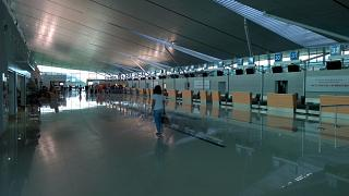 The check-in area for domestic flights at the airport of Phu Quoc