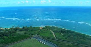 Coast of the island of Maui during takeoff from Kahului airport