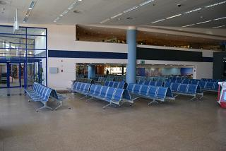 The waiting room in a clean area of the airport Marsa Alam