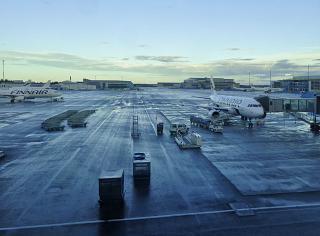 The apron of Helsinki Vantaa airport