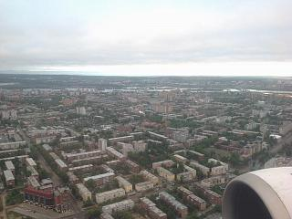 In flight over Irkutsk