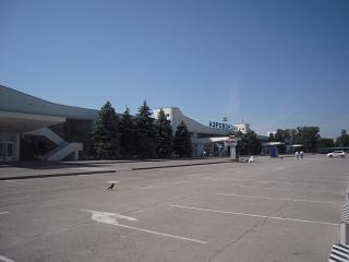 The view of the airport of Rostov-on-don from the forecourt