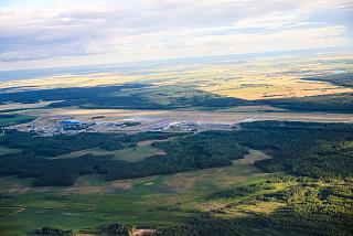 Вид на аэропорт Минск из самолета при взлете