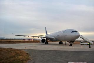 The Airbus A330-300 of Aeroflot in the colour of the Skyteam Alliance
