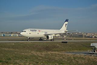 The Airbus A300-600 Iran Air airlines in Istanbul Ataturk airport