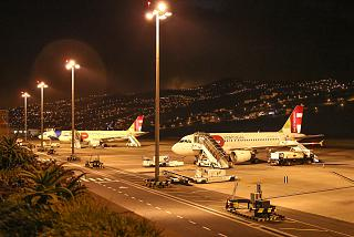 The platform of the airport of Funchal on Madeira island