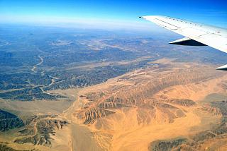 In flight over Egypt