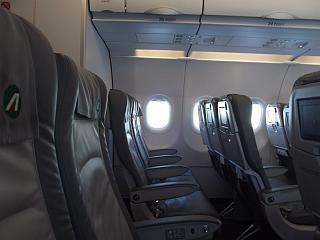 The seats in the Airbus A319 of Alitalia