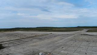 The empty platform of the airport Ust-Ilimsk