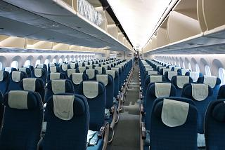 The economy class cabin in Boeing-787-9 Vietnam airlines