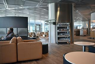 The business lounge of Lufthansa in terminal 1 of Frankfurt airport