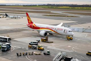 A Boeing-787-8 of Hainan Airlines at Vienna International Airport