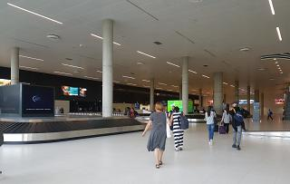 The baggage claim area at the airport of Zagreb