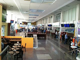 In the domestic terminal of the airport of Krasnodar