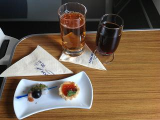 Закуски в бизнес-классе на рейсе Аэрофлота Хабаровск-Москва