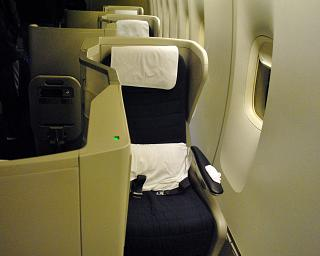 Place K business class Club World on the Boeing 747-400 British Airways