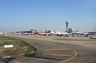 The apron of Shanghai Pudong international airport