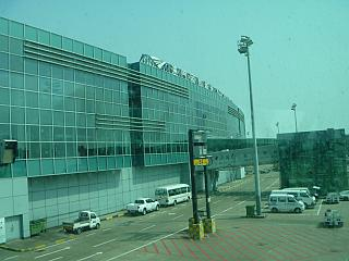 The passenger terminal of Macau international airport