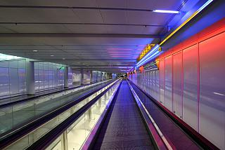 The transition at the airport Munich