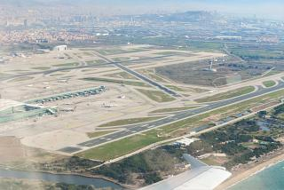The tarmac of the airport of El Prat in Barcelona
