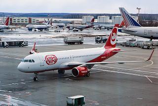 Airbus A320 авиакомпании Niki в аэропорту Домодедово