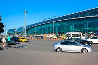 The passenger terminal of Moscow airport Domodedovo