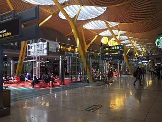 In terminal 4 of Madrid-Barajas airport
