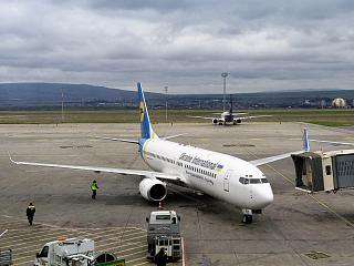 Boeing-737-800 Ukraine International airlines at Tbilisi airport