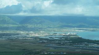 The city of Kahului on the Hawaiian Islands