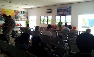 The waiting room at the airport Komodo Labuan Bajo
