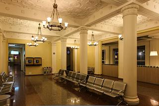 Lounge in the old terminal building of the airport of Vilnius