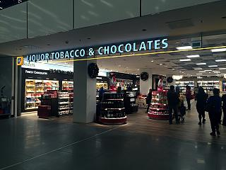 "Duty free shop ""See Buy Fly"" in terminal 2 at Schiphol airport"