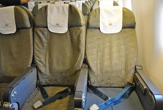 The passenger seats in the Boeing-777-200 Vietnam airlines