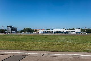 View of Tomsk airport from the runway