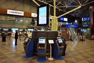 Зона регистрации авиакомпании Finnair в терминале Т2 аэропорта Хельсинки Вантаа