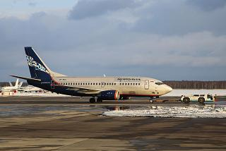 """Boeing-737-500 VP-BKU airline """"Nordavia airlines"""" at Domodedovo airport"""